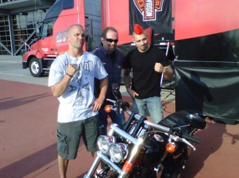 Chris Lytle and Dan Hardy - battle for the bike?