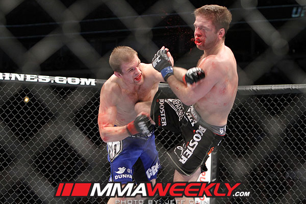 Evan Dunham cracks Nik Lentz at UFC on Fox