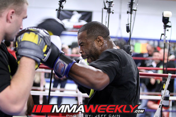 Rashad Evans at the UFC on Fox 2 Open Workouts