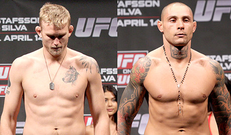 Alexander Gustafsson and Thiago Silva UFC on Fuel TV 2 Weigh-ins