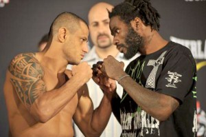 Marlon Sandro vs Daniel Straus at Bellator 68 weigh-ins