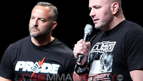 Lorenzo Fertitta and Dana White at UFC 100