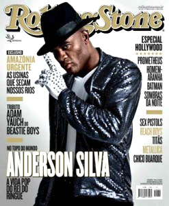 Anderson Silva on the cover of Rolling Stone Brazil
