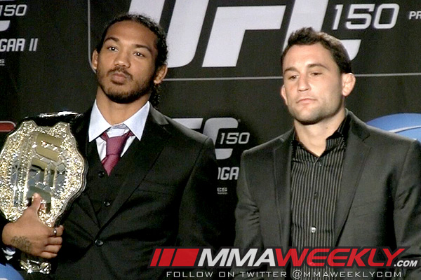 Benson Henderson and Frankie Edgar UFC 150