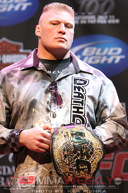 Brock Lesnar at UFC 100