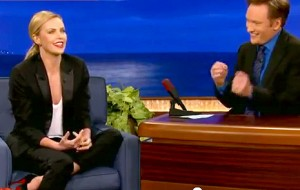 Charlize Theron talks UFC on Conan