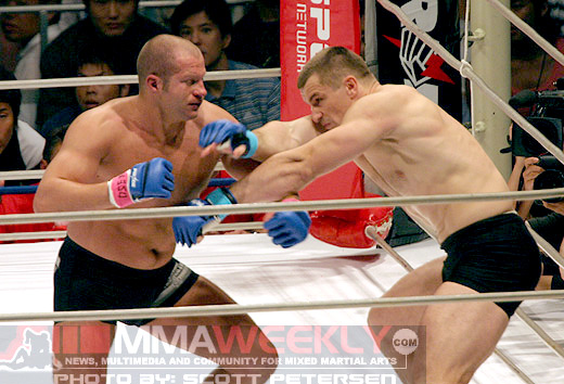 Fedor defeating Cro Cop at Pride Grand Prix 2005