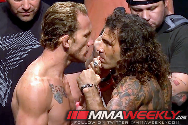 Gray Mayard and Clay Guida face off at UFC on FX 4 weigh-ins