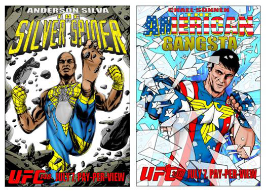Spider Silva and American Gangsta Comic Covers