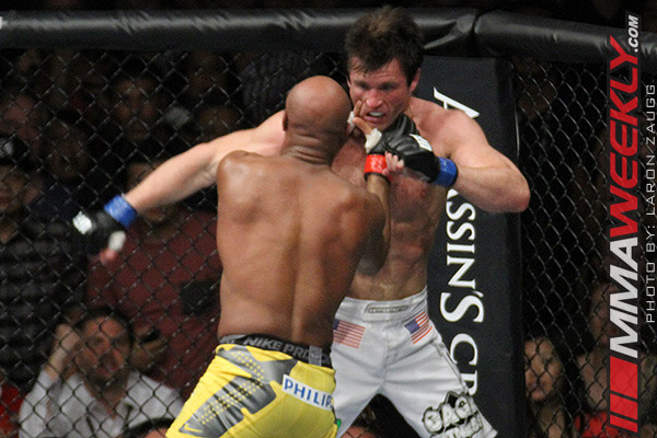 Anderson Silva and Chael Sonnen at UFC 148
