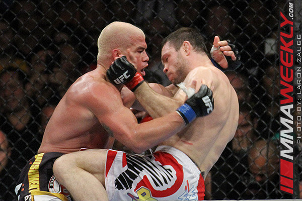 Forrest Griffin and Tito Ortiz at UFC 148