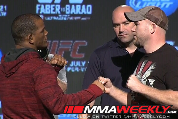 Hector Lombard vs. Tim Boetsch at UFC 149 press conference