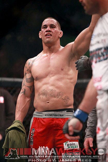 James Te Huna at UFC 110