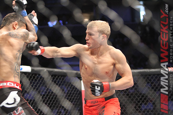 TJ Dillashaw and Vaughan Lee at UFC on Fuel TV 4
