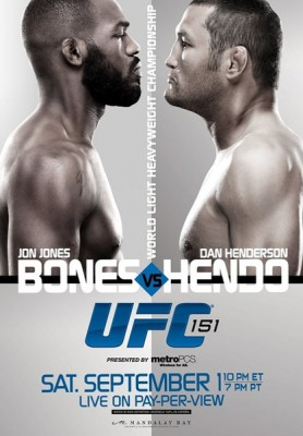 UFC 151 Jones vs Henderson Poster