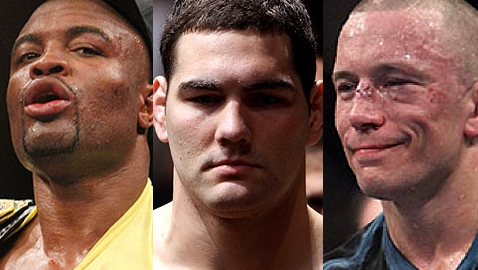 Anderson Silva, Chris Weidman and Georges St-Pierre