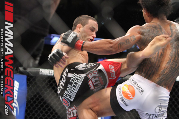 Benson Henderson and Frankie Edgar at UFC 150