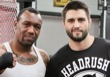 Carlos Condit and Austin Trout in the gym