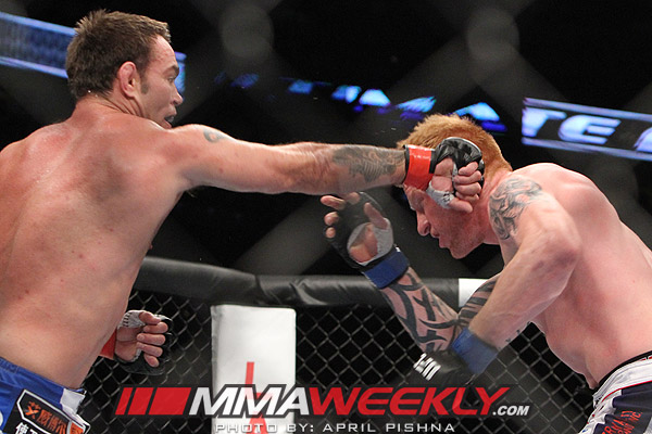 Jake Shields and Ed Herman at UFC 150
