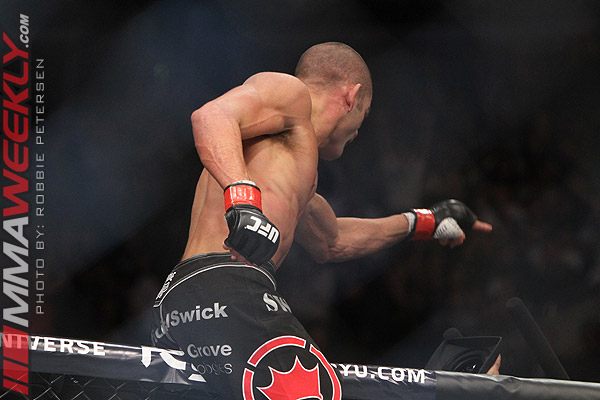 Mike Swick and DaMarques Johnson at UFC on FOX 4