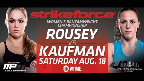 Strikeforce Rousey vs Kaufman Poster
