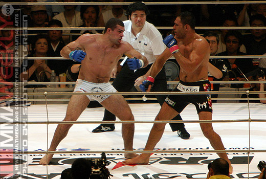 Mauricio Rua and Rogerio Nogueira at Pride Middleweight Grand Prix 2005