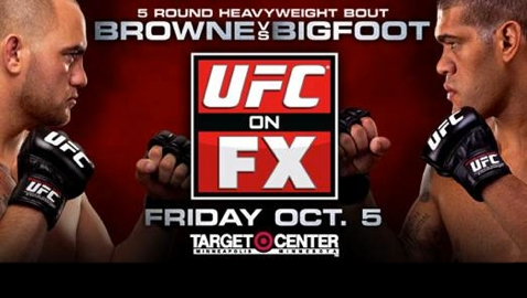 UFC on FX 5 Browne vs Bigfoot Poster