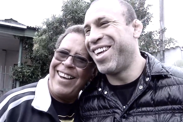 Wanderlei Silva and his dad, Holando