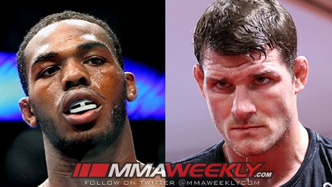Jon Jones and Michael Bisping
