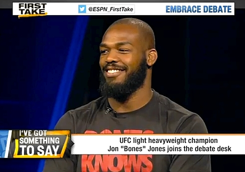 Jon Jones on ESPN First Take 110x77