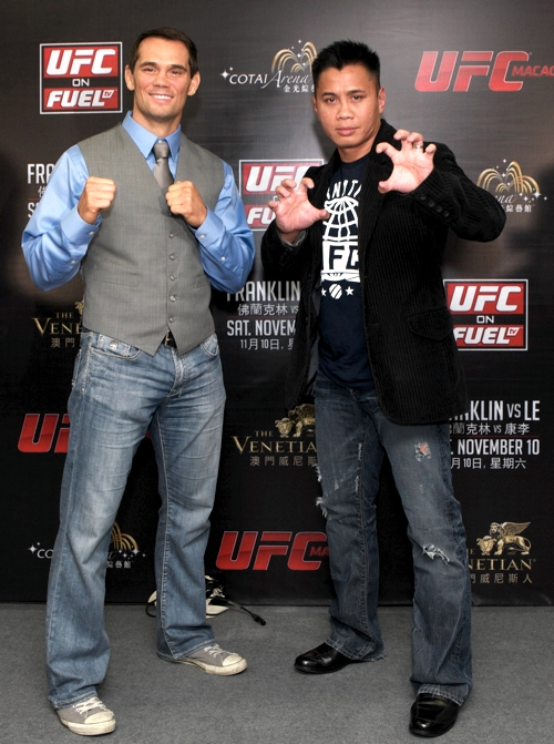 Rich Franklin and Cung Le in Macau