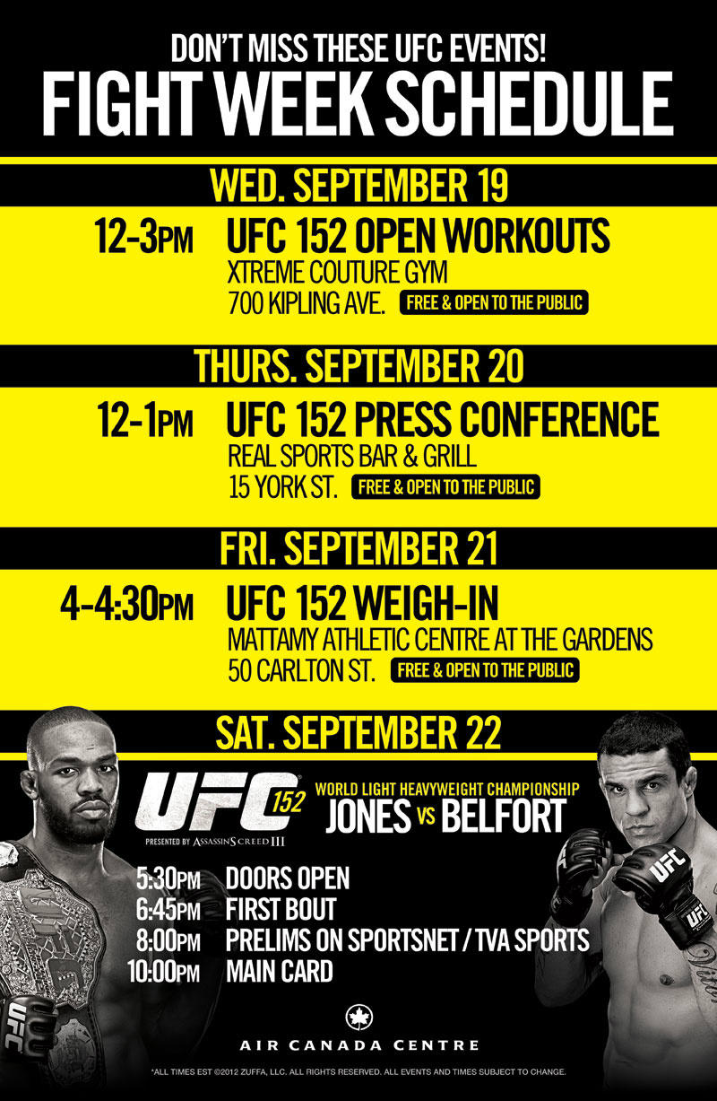 UFC 152 Fight Week Events