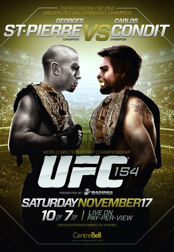 UFC 154 Poster Halloween Treatment