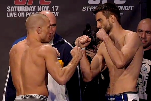 Georges St-Pierre vs Carlos Condit UFC 154 weigh