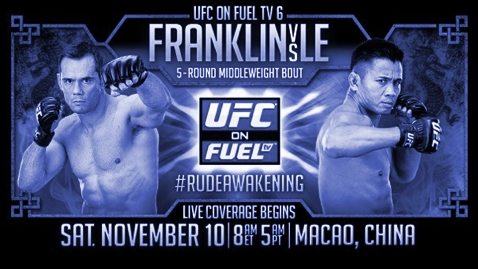 UFC on Fuel TV 6 in China Poster BLUE 478x270