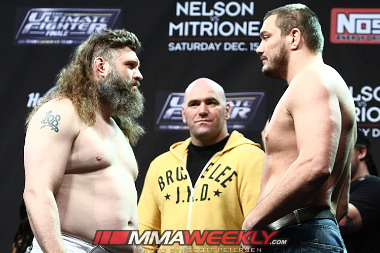 Roy Nelson and Matt Mitrione at TUF 16 Finale