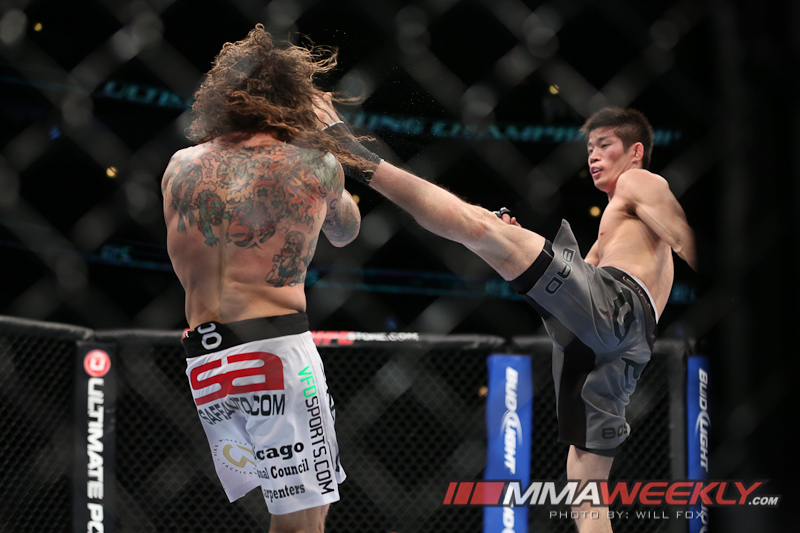 Hatsu Hioki and Clay Guida at UFC on Fox 6