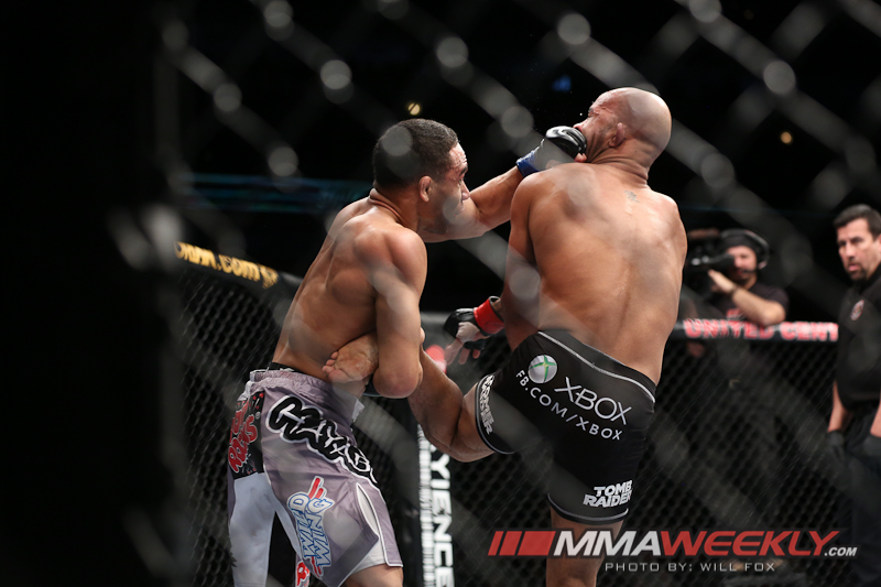 John Dodson and Demetrious Johnson at UFC on Fox 6