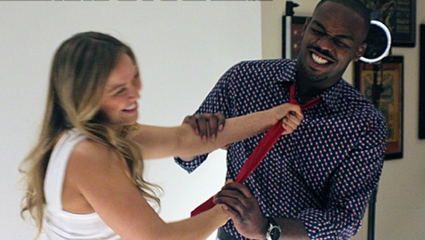 Ronda Rousey and Jon Jones at 2012 MMA Awards