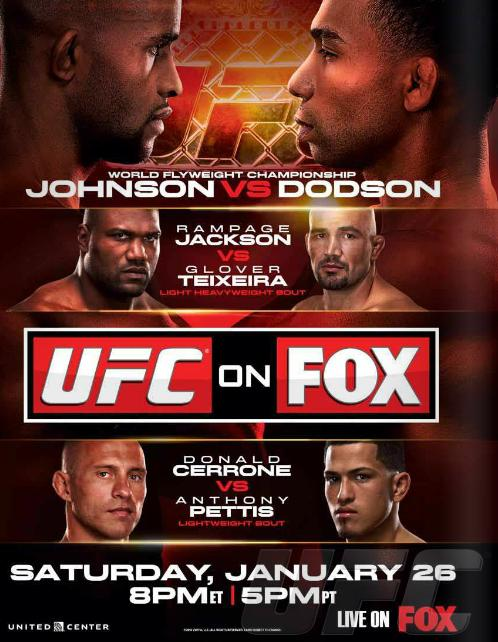 UFC on Fox 6 Poster