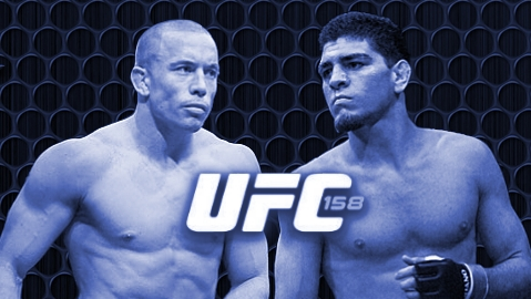 Georges St-Pierre vs Nick Diaz Cage-BLUE LOGO-478x270