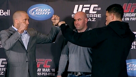 Georges St-Pierre vs Nick Diaz UFC 158 Presser