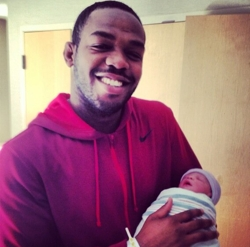 Jon Jones and Baby Olivia