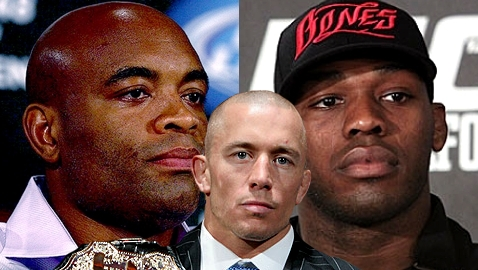 Anderson Silva, Jon Jones, Georges St-Pierre