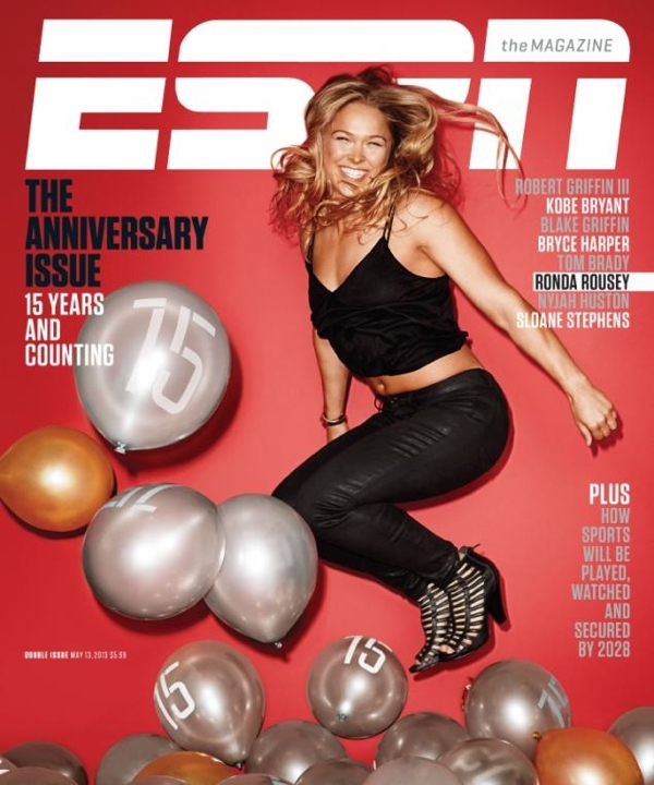 ESPN Mag 15th Ann Cover-Ronda Rousey