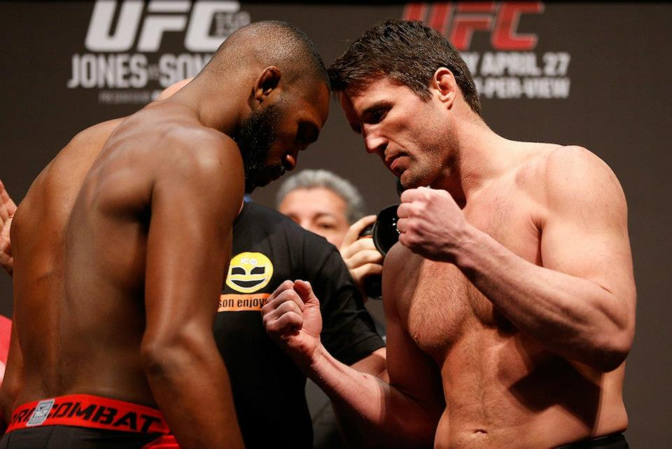 Jon Jones vs Chael Sonnen UFC 159 weigh