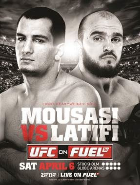 UFC on Fuel TV 9 Latifi Poster