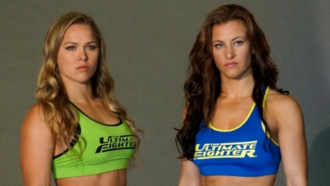 Ronda Rousey and Miesha Tate TUF 18 Coaches