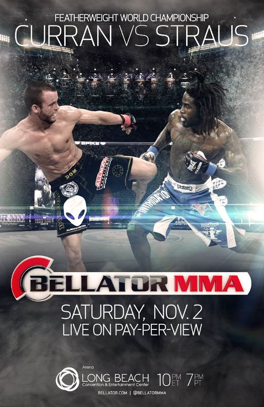 Bellator PPV Curran vs Straus Poster