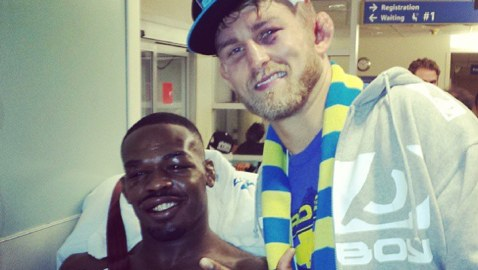 Jon Jones & Alex Gustafsson in Hospital-478x270
